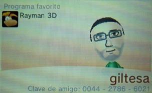 Codigo de amigo de nintendo 3ds: 0044-2786-6021 giltesa