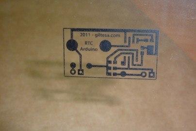 Fotolito PCB Arduino RTC