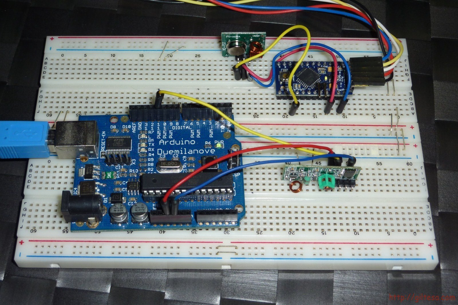 Módulos de radio frecuencia a 433Mhz para Arduino - el blog