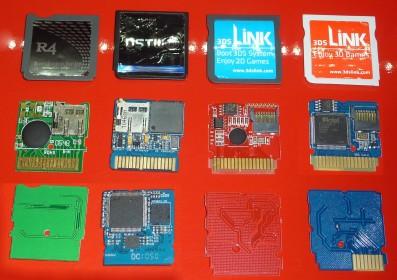 R4 original, SuperCard DSTwo y 3DSLink