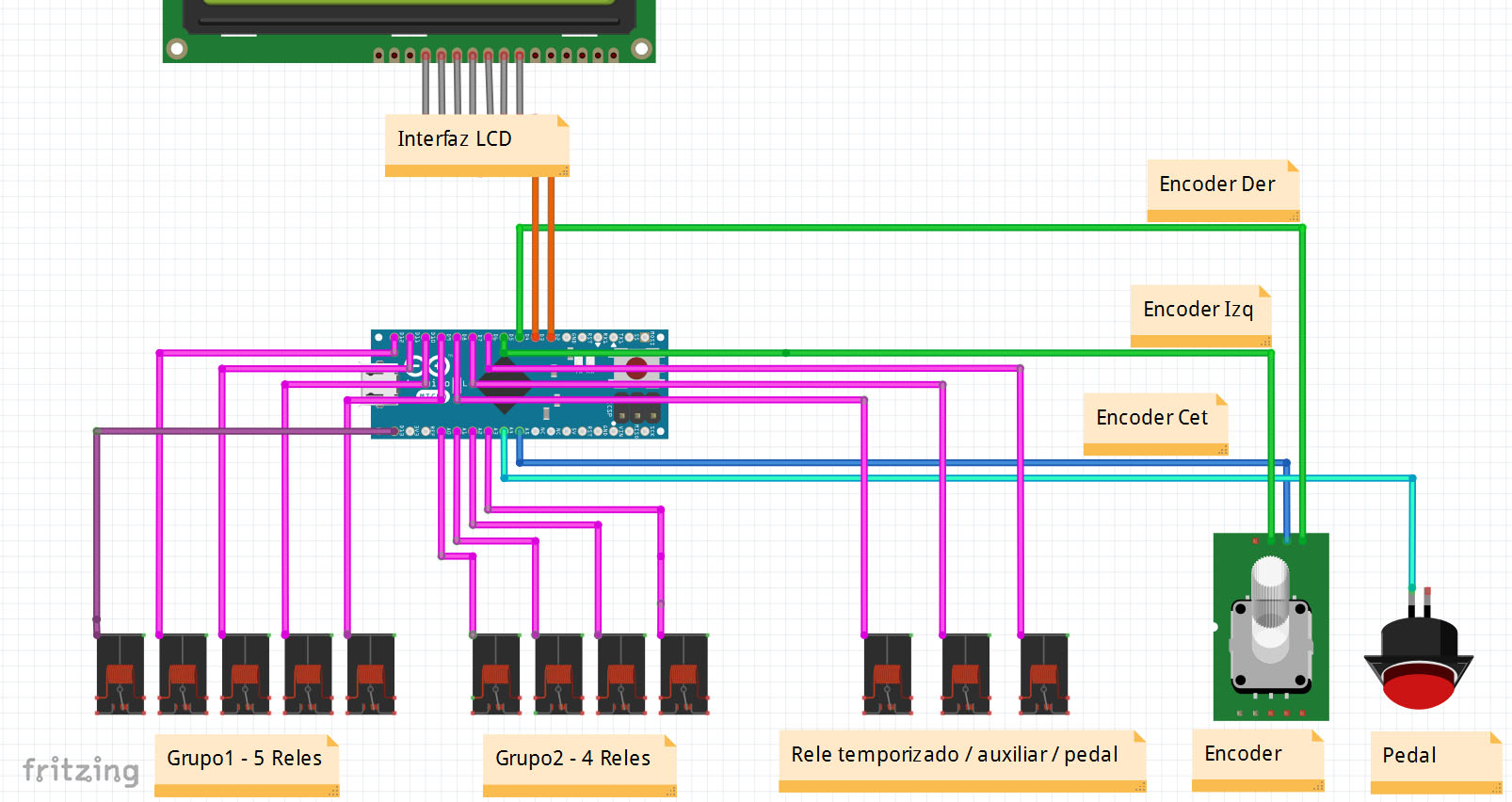 Circuito Arduino : Control de emisoras de radioaficionado con arduino circuito