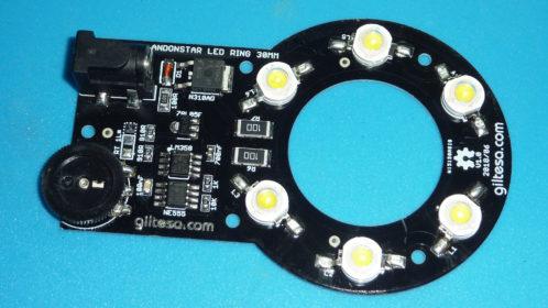 ANDONSTAR ADSM201 LED RING 6W 12V 30MM - Electrogeek